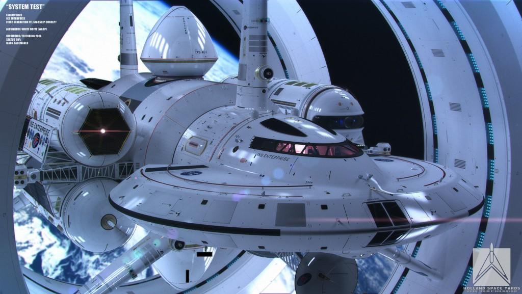NASA käynnisti vuonna 2012 valoa nopeampaan avaruuslentoon tähtäävän tutkimusohjelman. Ohjelma on tuottanut muun muassa hienon konseptikuvan siitä, millaiselta Alcubierre-poimuajoa käyttävä alus voisi näyttää.