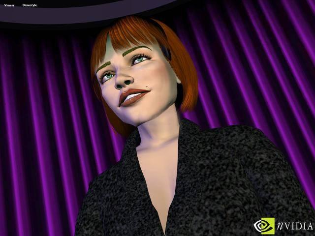 GeForce 256:n tukema Transform & Lighting avasi portit näin uskomattomalle silmäkarkille (köh, köh). Kuva Nvidan teknologiademosta vuodelta 1999.